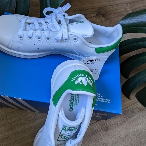 Adidas Stan Smiths White/Green W6.5